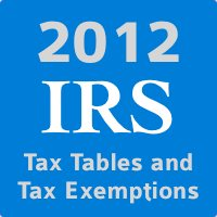 IRS 2012 Inflation Adjusted Tax Tables With Updated Tax Exemptions