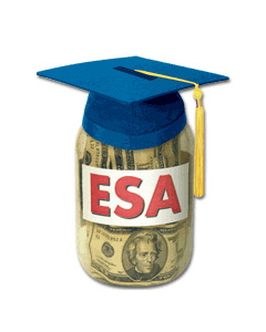 When you invest through a Coverdell education savings account (ESA), you make an after-tax contribution and the account accumulates tax-deferred earnings