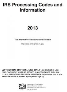 image of cover page for IRS publication 6209