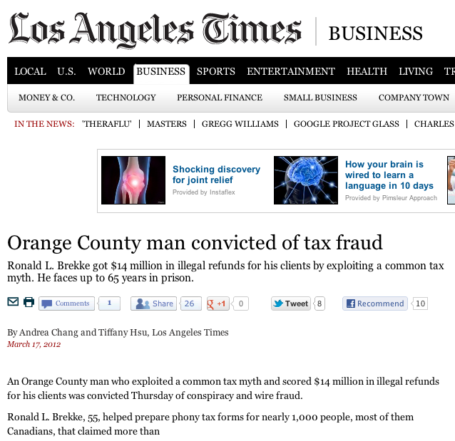 example of tax fraud